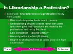 is librarianship a profession