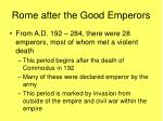 rome after the good emperors