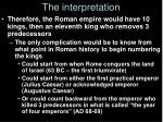 the interpretation2