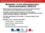 mutagenita in vivo mikronukleus test v sav ch erytrocytech oecd 474