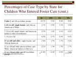 percentages of case type by state for children who entered foster care cont1