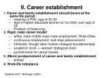ii career establishment
