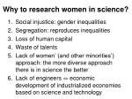 why to research women in science