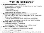 work life im balance