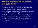 myths surrounding olap servers and data marts