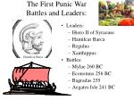 the first punic war battles and leaders