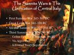the samnite wars the unification of central italy1
