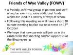 friends of wye valley fowv