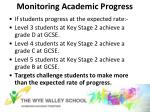 monitoring academic progress