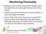 monitoring punctuality