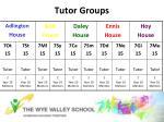 tutor groups