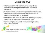 using the vle
