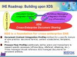 ihe roadmap building upon xds