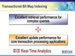 transactional bit map indexing