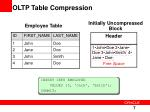 oltp table compression2