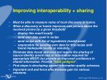 improving interoperability sharing