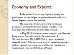 economy and exports