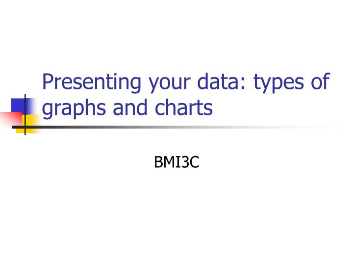 presenting your data types of graphs and charts n.