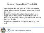 summary expenditure trends 2