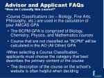 advisor and applicant faqs how do i classify this course