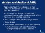 advisor and applicant faqs how do i enter this course into the application