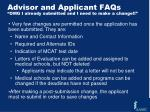 advisor and applicant faqs omg i already submitted and i need to make a change