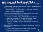 advisor and applicant faqs what does amcas need for my study abroad courses