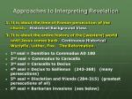 approaches to interpreting revelation1