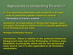 approaches to interpreting revelation5