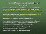 theme message and objective of revelation