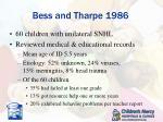bess and tharpe 1986