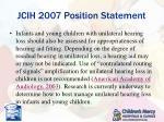 jcih 2007 position statement