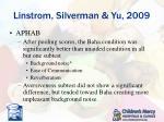 linstrom silverman yu 20093