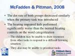 mcfadden pittman 2008