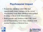 psychosocial impact3