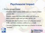 psychosocial impact4