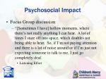 psychosocial impact5
