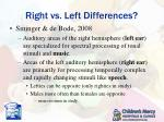 right vs left differences