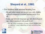 shepard et al 1981