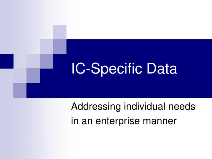 ic specific data n.