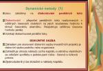 dynamick metody 1