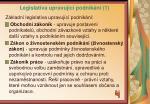 legislativa upravuj c podnik n 1