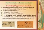 statick metody hodnocen investic 1