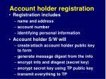 account holder registration1