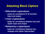 attacking block ciphers