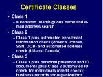 certificate classes