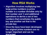 how rsa works