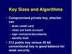 key sizes and algorithms1