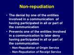 non repudiation