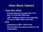 other block ciphers